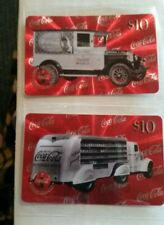 1996 Coca Cola Sprint $10  Truck Phone Cards #4 And #10
