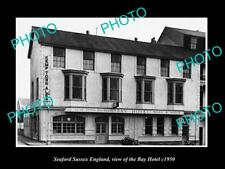 OLD LARGE HISTORIC PHOTO SEAFORD SUSSEX ENGLAND, VIEW OF THE BAY HOTEL c1950