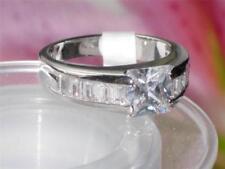Princess Platinum Plated Cubic Zirconia Costume Rings