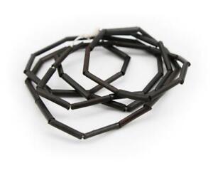 Bamboo Tubes 12-16mm Black 70cm 49 Piece Thin Tubes beads