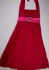 Womens Ladies XS Dark Pink Semi Formal Dress Wedding Prom CITY TRIANGLES