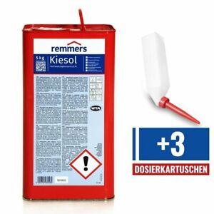 Set REMMERS KIESOL 5 KG Verkieselung Abdichtung + 3 Dosierkartuschen