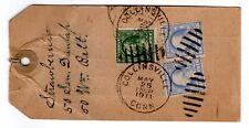 Collinsville CT Nursery - 1911 Tag w/ 15c Washington x2