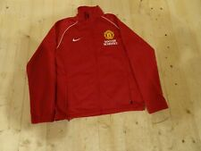 Junior Man Utd Soccer Schools Nike Tracksuit Jacket Red Size 10 - 12 Years