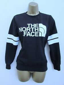 The North Face Ladies Black & White Crew Neck Sweatshirt Jumper Size XS 8
