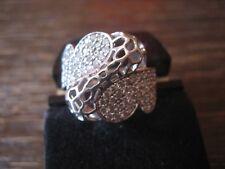 edler vintage Designer Ring mit Kristall Pavé Cocktailring 925er Silber Zirkonia