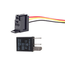 Universal Black 12V 30A SPST Relay Fan Fuel Pump Horn Car Kit 4P 4 Wire Sales