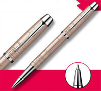 Luxurious Metal Parker IM Champagne Rose Color 0.5mm Fine Nib Rollerball Pen