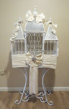 Handmade Metal Bird Cage Card Box on Stand