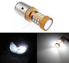 12V BA20D H6 20W LED White Bulb Light For Motorcycle Bike Moped ATV Headlight