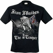 Iron Maiden hombre Sketched Trooper camiseta Medium negro