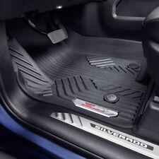 2019-2021 Chevrolet Silverado Front Floor Liners Black 84348118 w/ Chrome Z71 OE