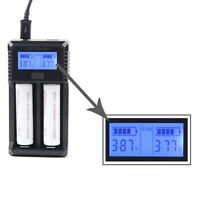 2 Slots LED Display Battery Charger For 2pcs AA/AAA Ni-MH Rechargeable Batteries