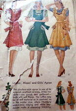 LOVELY VTG 1930s APRONS Sewing Pattern MEDIUM
