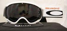 OAKLEY CANOPY MATTE WHITE DARK GREY MASCHERA SKI SNOWBOARD NEW