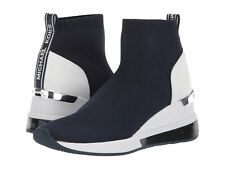 Michael Kors Admiral Blue Skyler Extreme Stretch-Knit Sock Sneakers Size 5