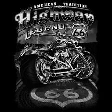 T-shirt Chopper motorista Highway Legend Route 66 XXXXL xxxxxl XXXXXXL