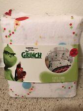 The Grinch Full Sheet Set 4 Piece Flannel Sheet Set BRAND NEW