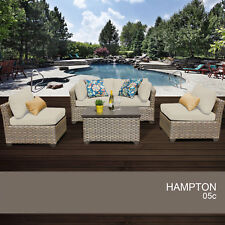 Hampton 5 Piece Outdoor Wicker Patio Furniture Set 05c