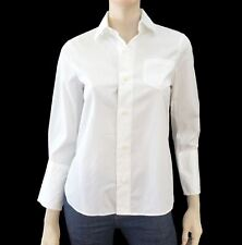 24b476e0 DSQUARED2 Top Blouse 40 US 4 White Cotton Button Down Shirt Long Sleeve