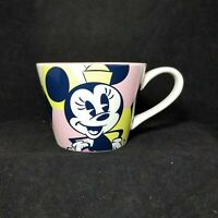 Disney Store Minnie Mouse Geometric Patterned Pink Yellow Coffee Tea Mug Cup