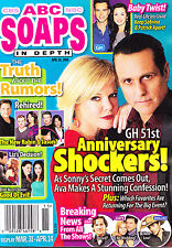 ABC Soaps In Depth Magazine - April 14, 2014 - Maura West & Maurice Benard