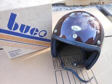 NOS Vintage Buco Helmet Model 1743-3 Poly Large Candy Brown Root Beer AHRMA