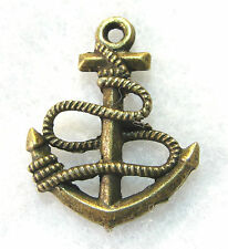 10Pcs. Tibetan Antique Bronze 3D Ship's Anchor Charms Pendants Findings Ot02A