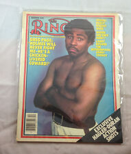 December 1983 Geg Page  The Ring   Boxing Magazine Vintage