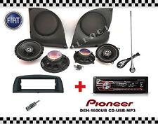 KIT FIAT PUNTO 2 versione 4 casse Tasche + Antenna e  autoradio Pioneer CD / USB