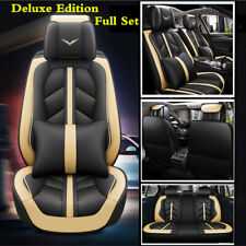 Full Set Car 5-Sits Seat Cover Protector Cushions Leather Interior Accessories