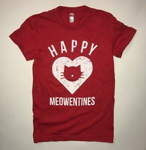 womens happy meowentines t shirt funny cat valentines tee top cute meow vday
