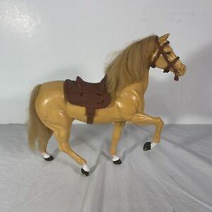 Vintage Barbie 1980 Dallas Barbie Doll's Horse With Saddle Bridle Mattel Tall