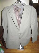 Men's Blue Sports Like Tan/Green Button Jacket Size L Good Condition