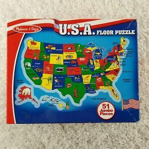 Melissa & Doug American Map Floor Puzzle 51 piece puzzle SIZE JUMBO