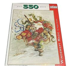 Santa Claus Windswept Magic by Peggy Abrams #3004 Spilsbury puzzle holiday new