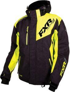 FXR MEN'S RECOIL JACKET COAT PARKA - SNOW - Black Heather / Hi Vis -  3XL - NEW