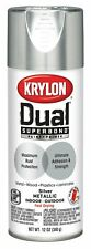 Krylon K08846007 Dual Superbond Paint and Primer Metallic Finish, Silver, 12