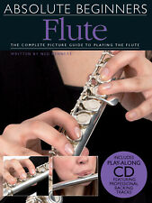 Absolute Beginners for Flute Learn How to Play Music Lessons Ned Bennett Book CD