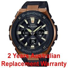 CASIO G-SHOCK G-STEEL SOLAR WATCH GST-S120L-1A BLACK LEATHER BAND GSTS120L-1ADR