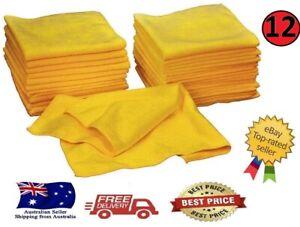 Kirkland Signature 12 Ultra Soft Plush Microfibre car Towels Cloths 40cm x 40cm