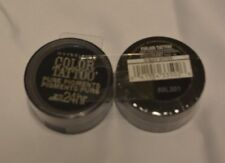 MAYBELLINE SEAL COLOR TATTOO 24 HR EYE SHADOW #30 BLACK MYSTERY@$5.99 & $3.79 SH
