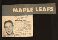 Terry Sawchuk Autographed Toronto Maple Leafs Program Photo d.70