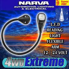 NARVA 87684BL LED MAP & READING LIGHT FLEXIBLE ARM 12V 24V 12 24 VOLT NEW L.E.D