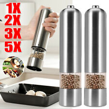 1-5Pack Electric Salt and Pepper Grinder Mill LED Light Adjustable Coarseness