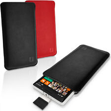 Leather Pouch Case Pocket Sleeve for Nokia Lumia 930 Pull Tab Slim Skin Cover