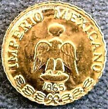 New listing 100 1865 Maximilian Peso Gold tone favors 8-22K toy metal coins Love Tokens .