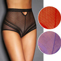 Sheer Mesh Lace Retro Net Cutout Slim Cutout High Waist Boudoir Lingerie M-3XL