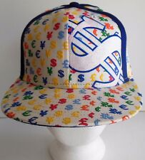 New Era Dollar Sign Money Fitted Hat White Multicolor Baseball Cap 59 Fifty New