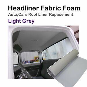 1.5Mx2M Light Gray Headliner Ceiling Renovation Fabric Roof Lining Flannelette